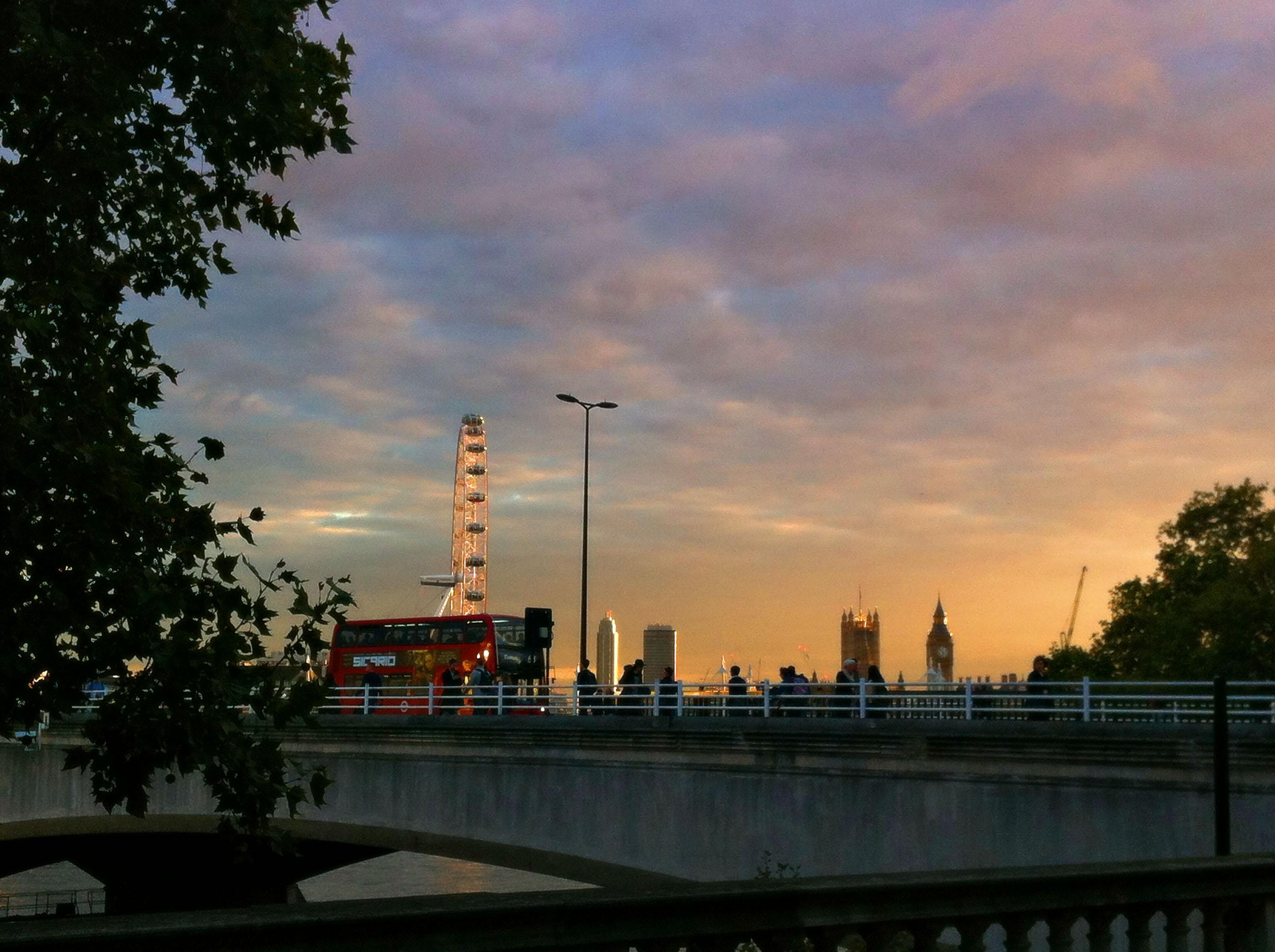 Лондон залез London sunset summerset house london eye bridge лондонско око мост
